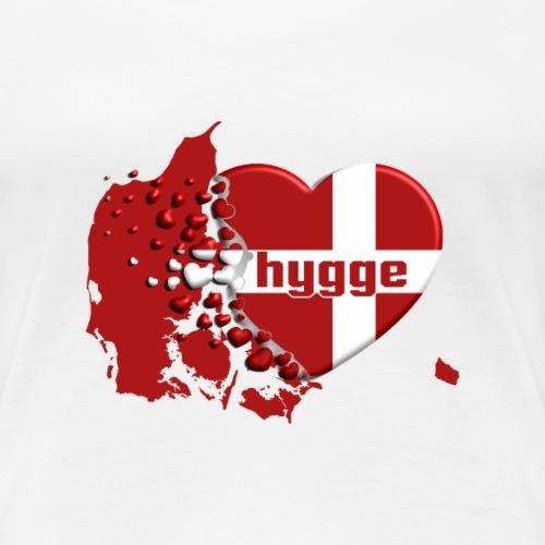 Hygge Dänemark Herz - Frauen Premium T-Shirt