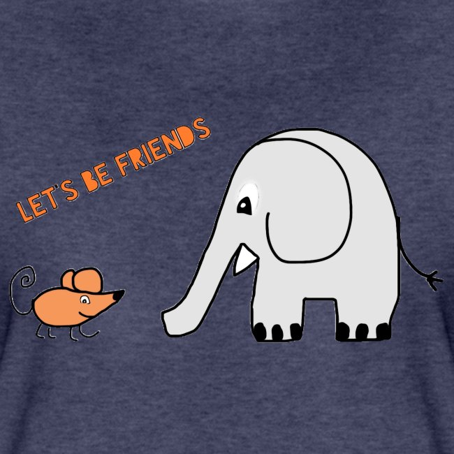 Elephant and mouse, friends