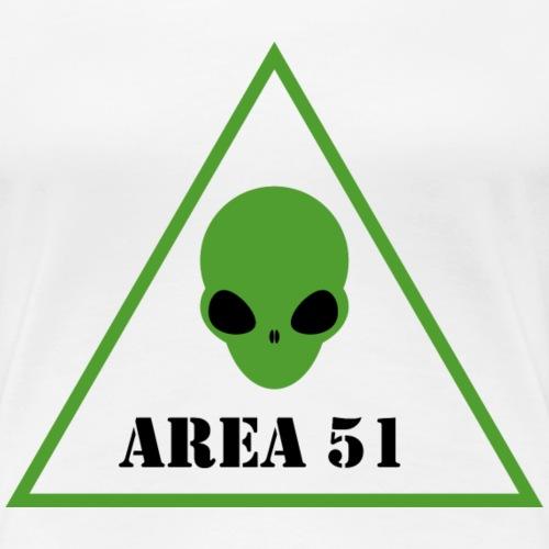 AREA 51 ALIEN - Maglietta Premium da donna