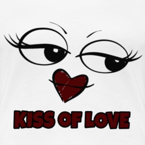 Kiss of Love - T-shirt Premium Femme