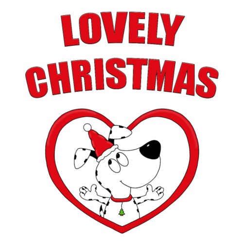 Hund - Herz - Liebe - LOVELY CHRISTMAS - Frauen Premium T-Shirt