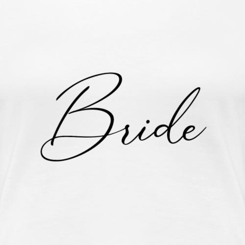 Bride - Face Mask - Women's Premium T-Shirt