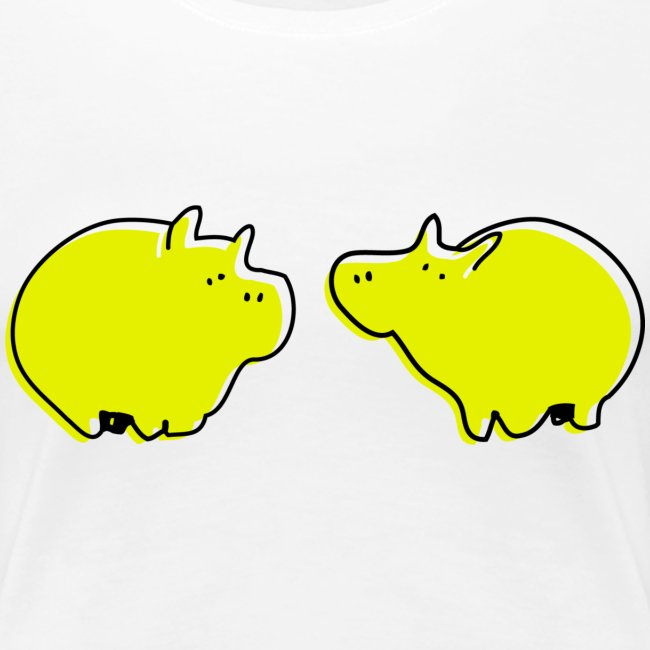 Cochons jaunes