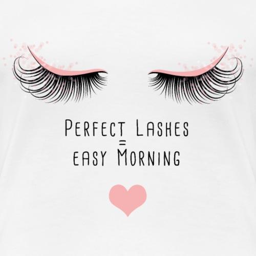 Perfekt Lashes - Frauen Premium T-Shirt