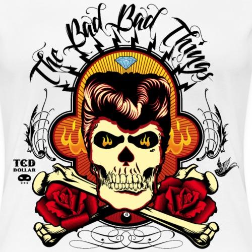 Rockabilly skull - T-shirt Premium Femme