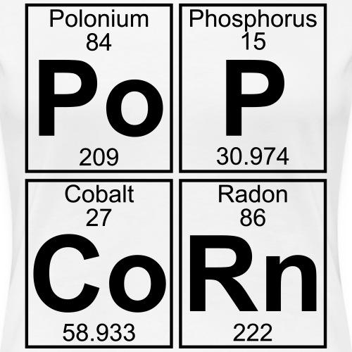 Po-P-Co-Rn (popcorn) - Full - Women's Premium T-Shirt