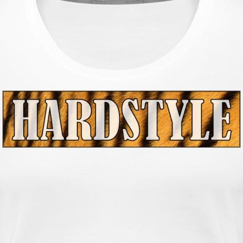 Tiger Hardstyle - White lettering - Vrouwen Premium T-shirt