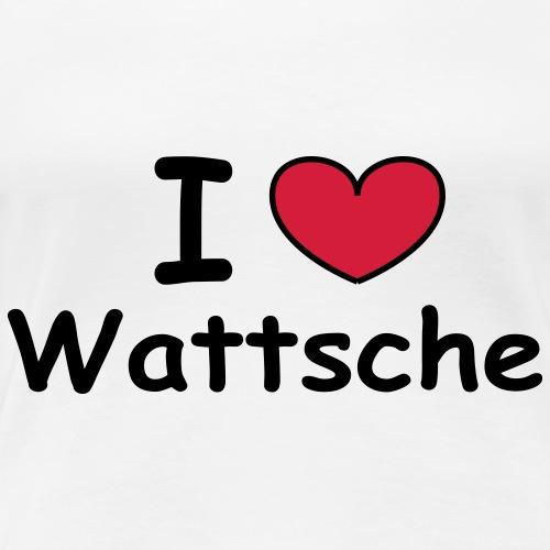 I love Wattsche - Frauen Premium T-Shirt