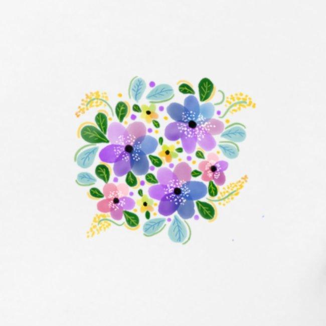 Wasserfarben-Blumen