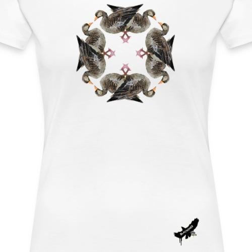 'Goose Circle' by BlackenedMoonArts - Dame premium T-shirt
