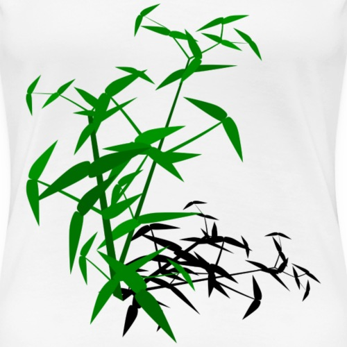 Bamboo with shadow - Women's Premium T-Shirt