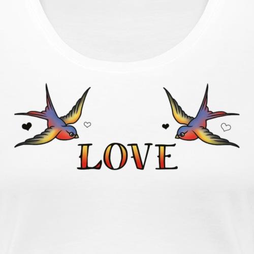 A Pair Of Swallows In Love - Women's Premium T-Shirt