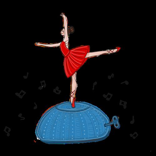 Ballerina-Spieluhr - Frauen Premium T-Shirt