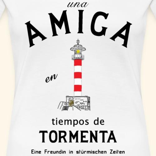 Freundin auf Spanisch/ Deutsch - Frauen Premium T-Shirt