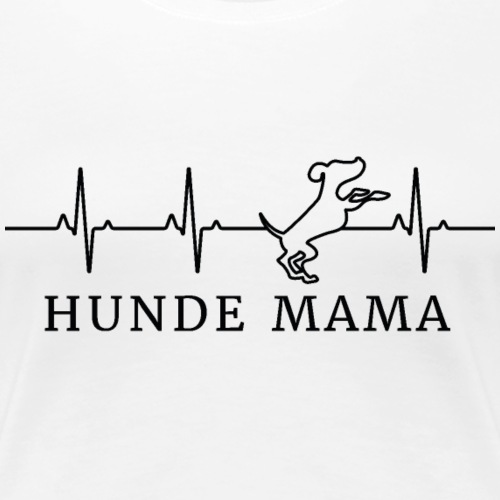 Hunde Mama schwarzes Logo - Frauen Premium T-Shirt