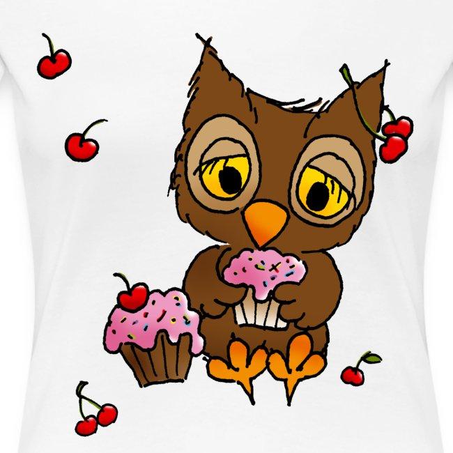 Eule mit Cupcakes