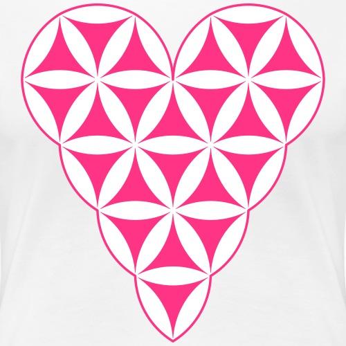Heart of Life x 1 - Vector with custom colour. - Women's Premium T-Shirt