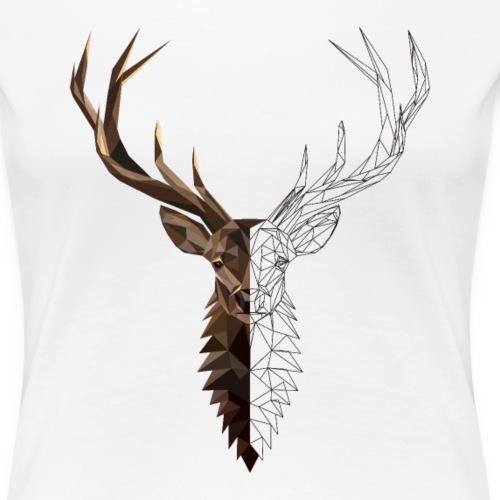 Hirsch - Frauen Premium T-Shirt