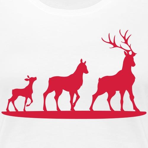 Hirschfamilie - Frauen Premium T-Shirt