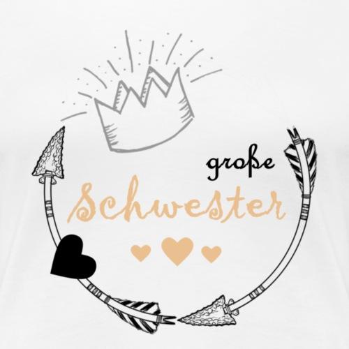 grosse Schwester - Frauen Premium T-Shirt