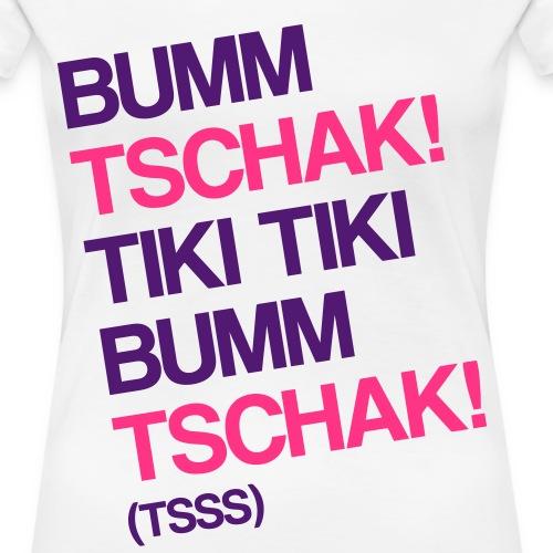 Bumm Tschak Tsss zweifarbig - Frauen Premium T-Shirt