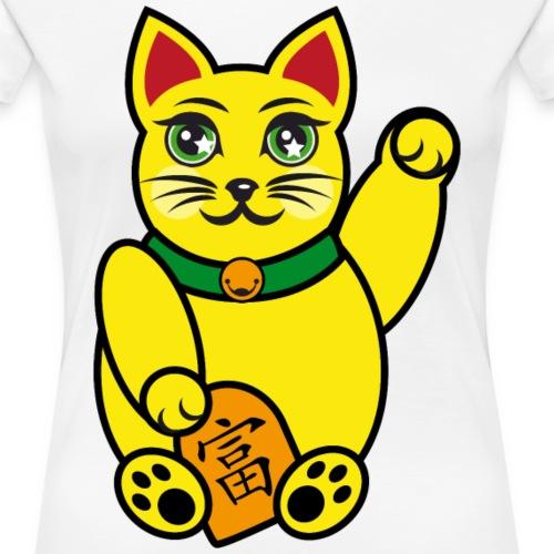 Maneki Neko, Winkekatze farbig - Frauen Premium T-Shirt