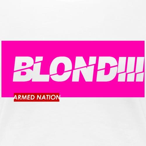 BLONDIII pink 2020 - Frauen Premium T-Shirt