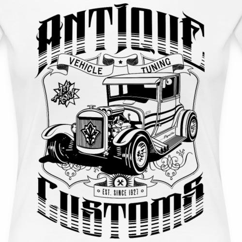 Hot Rod - Antique Customs (black) - Women's Premium T-Shirt