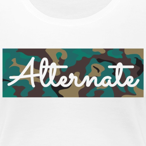 ALT-PREME / Camo - Women's Premium T-Shirt