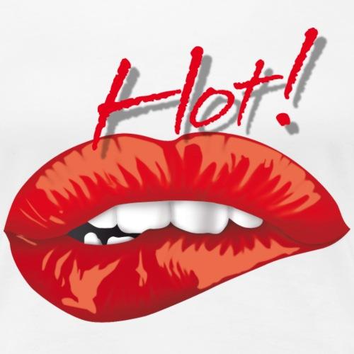 bocca hot 2 - Maglietta Premium da donna
