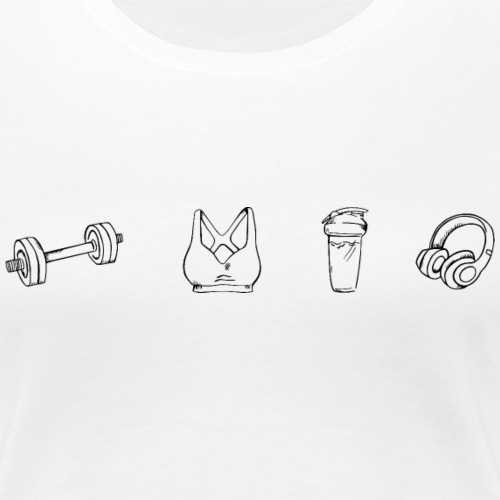 Fitness Sportaccessoires - Frauen Premium T-Shirt