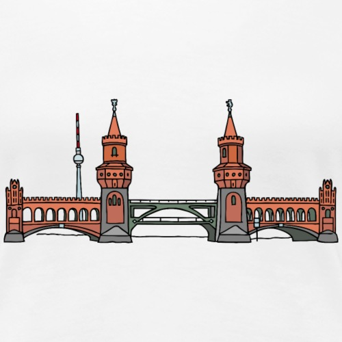 Oberbaumbrücke BERLIN - Vrouwen Premium T-shirt