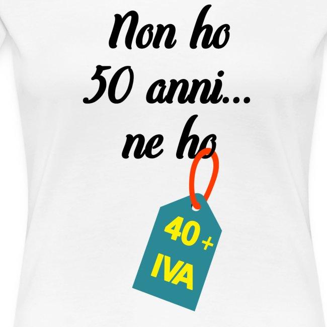 Compleanno 50 anni più IVA