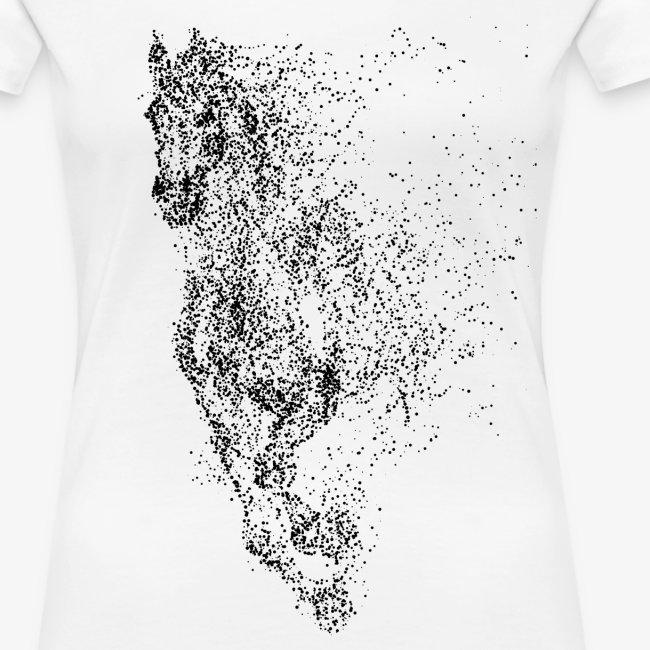 Vorschau: pixel black horse - Frauen Premium T-Shirt