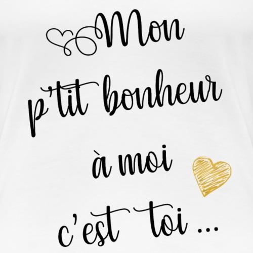 Bonheur à moi (noir) - T-shirt Premium Femme