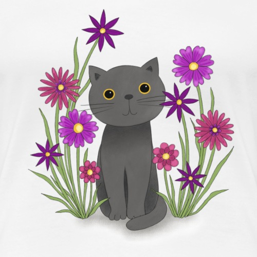 Abby in der Blumenwiese - Frauen Premium T-Shirt