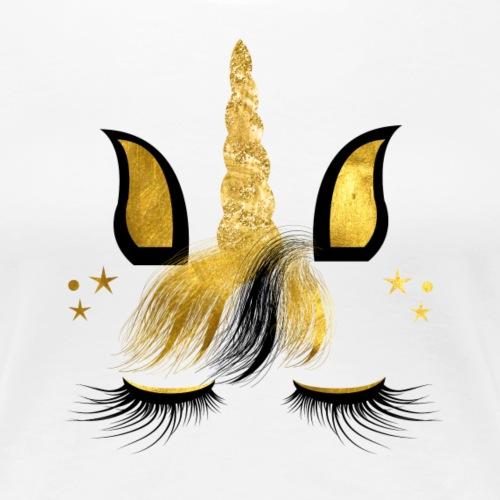UNICORN FACE 1 2 - Frauen Premium T-Shirt