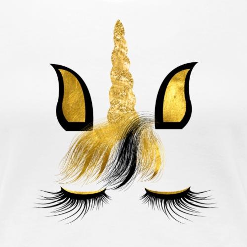 UNICORN FACE 1 5 - Frauen Premium T-Shirt