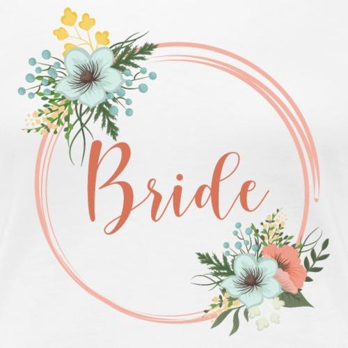 Bride - floral motive / florales Motiv - Women's Premium T-Shirt