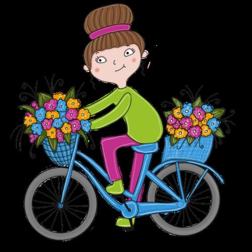 Bine - Fahrrad mit Blumenkorb - Frauen Premium T-Shirt