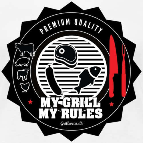 MY GRIL MY RULES - Dame premium T-shirt