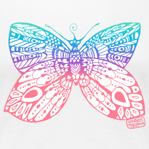Papillon • Under my skin - T-shirt Premium Femme