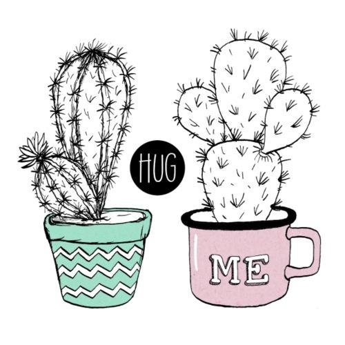 Kaktus Hug me - Frauen Premium T-Shirt