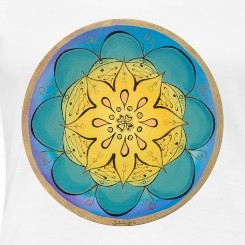 Mandala Sanfte Blüte handgemalt - Frauen Premium T-Shirt