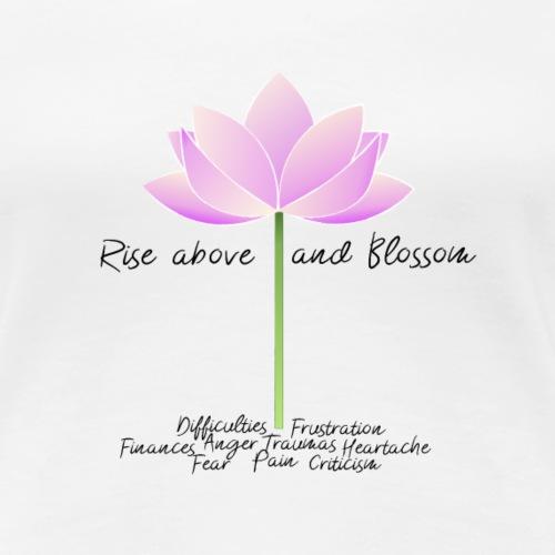Blossom Black Letters - T-shirt Premium Femme