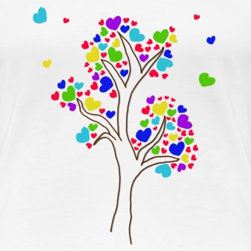 L'arbre fleurit en couleur et l'amitié aussi - T-shirt Premium Femme