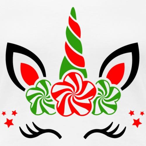 Licorne de Noël - T-shirt Premium Femme
