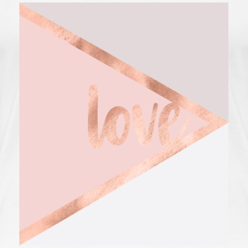 Rose gold love - T-shirt Premium Femme