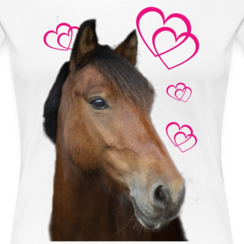 Hästälskare (Musse) - Premium-T-shirt dam