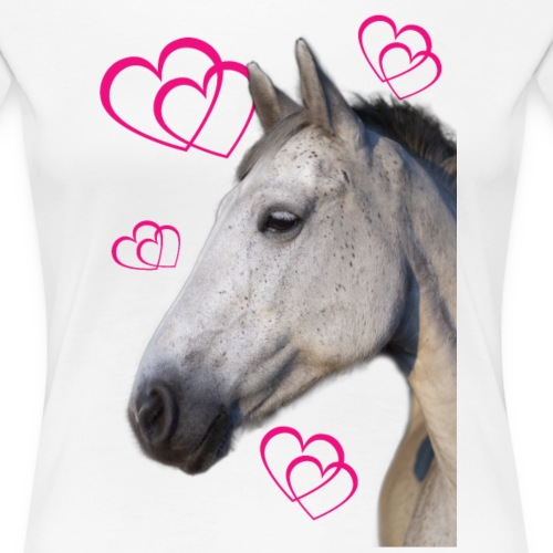 Hästälskare (maya) - Premium-T-shirt dam